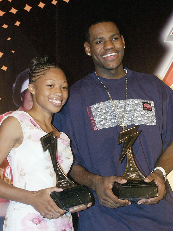 James and sprinter Allyson Felix were named Gatorade Athletes of the Year in 2003.