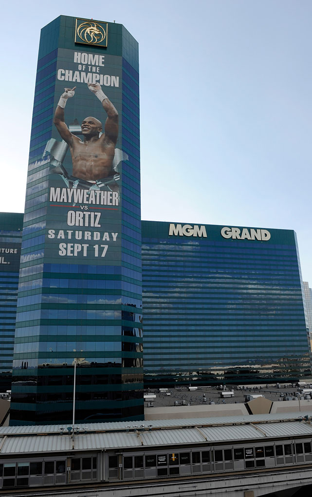 If Mayweather's hometown advantage wasn't obvious enough, his super-sized image was plastered alongside the MGM Grand throughout the build-up to Saturday's fight.