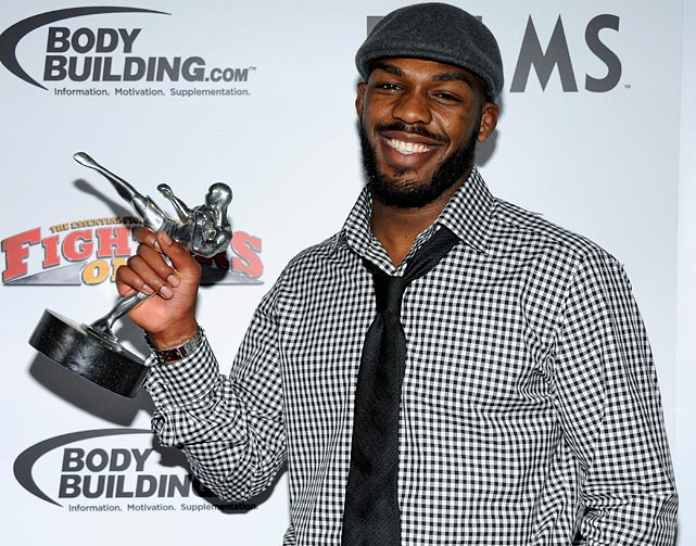 Jon Jones picked up the 2011 Fighter of the Year award from Fighter's Only after fighting four times and capturing the light heavyweight championship in the span of one year.