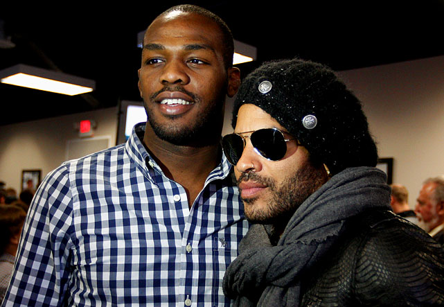 The light heavyweight champion with Grammy-winning Rock musician Lenny Kravitz.