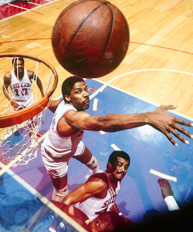 Moses Malone joined Philadelphia as a free agent to help Julius Erving and the 76ers to 65 wins and a 12-1 record in the playoffs, giving the franchise its first title in 16 years.