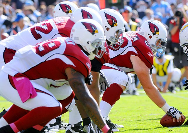Kevin Kolb has brought a lot of excitement to Arizona, but who will protect him? The Cardinals' line was a mess last year and though they've improved the talent level with former Packer Daryn Colledge, there are still question marks. The NFC West is there for the taking in Arizona, but not if the team can't keep its new star quarterback upright.