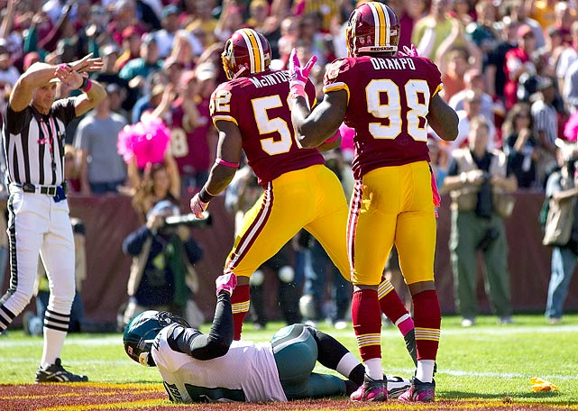 Orakpo was fined for roughing the passer after a helmet-to-helmet collision with Philadelphia's Michael Vick in Week 6.