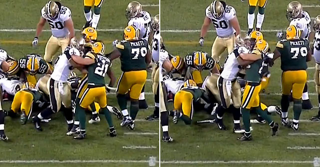 Woodson was lucky not to be ejected from the game after punching Saints' TE David Thomas in the season opener.