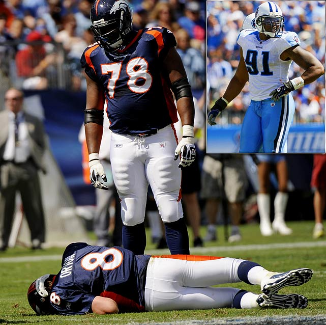 Jones' was flagged for roughing the passer after a late hit on Broncos' quarterback Kyle Orton in Week 3.