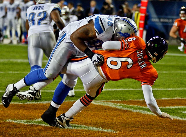 Fairley was fined for roughing the passer after he unnecessarily drove Bears quarterback Jay Cutler into the ground in Week 10.