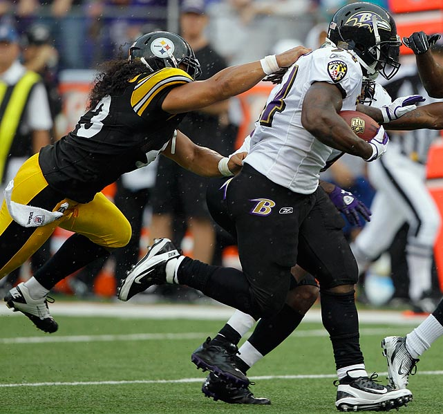 Polamalu's horse collar tackle of Ravens' running back Ricky Williams made him one of three players fined in the Ravens-Steelers divisional clash in Week 1.