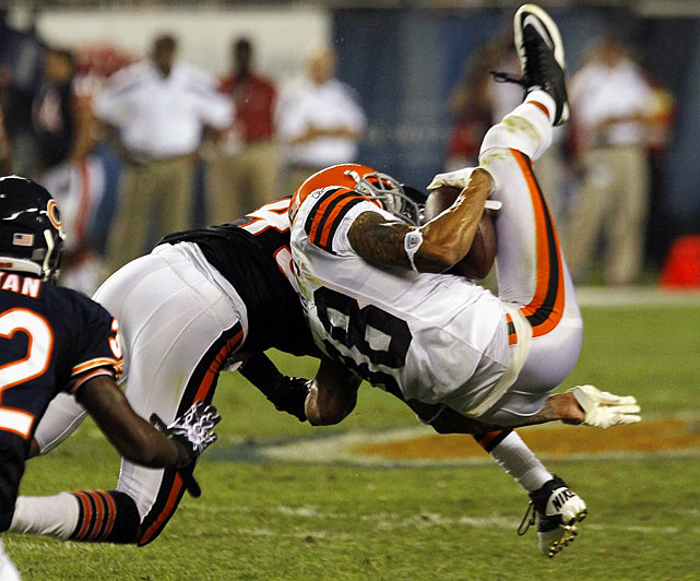 The Bears' safety was fined for an illegal preseason hit on Browns' wideout Demetrius Williams.