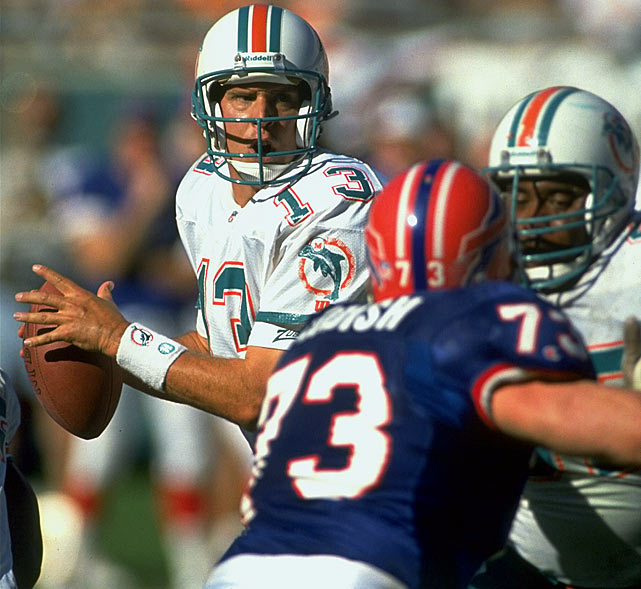 Consecutive Starts: 95* Playoffs: 4 Total: 99   *Marino started 145 consecutive non-strike games from 1984-1993, but due to a player strike in October 1987 where replacement players were used and Marino opted not to participate, this streak is not officially recognized.