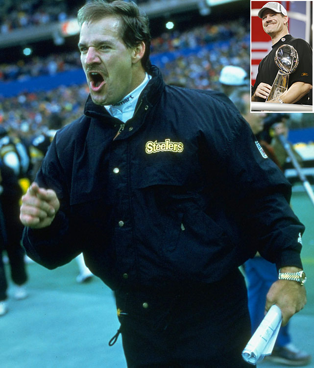 Rumblings swell every season about Cowher's potential return to the league. He's a popular commodity for a reason. Cowher succeeded Hall of Famer Chuck Noll at the Steelers' helm and kept their tradition thriving over 15 seasons with a ferocity befitting Pittsburgh. Cowher took his team to the Super Bowl in 1995 and, 10 years later, lifted the Lombardi Trophy. Cowher's career record is 149-90-1, a winning percentage better than Hall members Bud Grant, Joe Gibbs and Bill Walsh, among others.