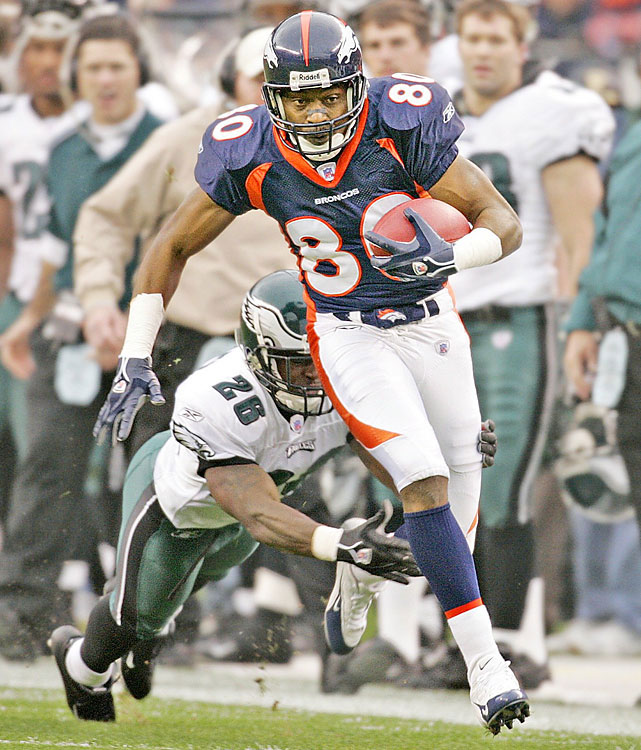 Smith's career was much quieter and a tad more productive in comparison to Keyshawn's. He went undrafted out of Missouri Southern State in 1994. Smith latched on with the Broncos a year later and developed a quick rapport with John Elway. His first career catch was a game-winning touchdown. He teamed with Ed McCaffrey as Elway's go-to receivers for two Super Bowls, notched eight 1,000-yard seasons and made three Pro Bowls. Smith was a consummate pro but perhaps not electrifying enough for the Hall.