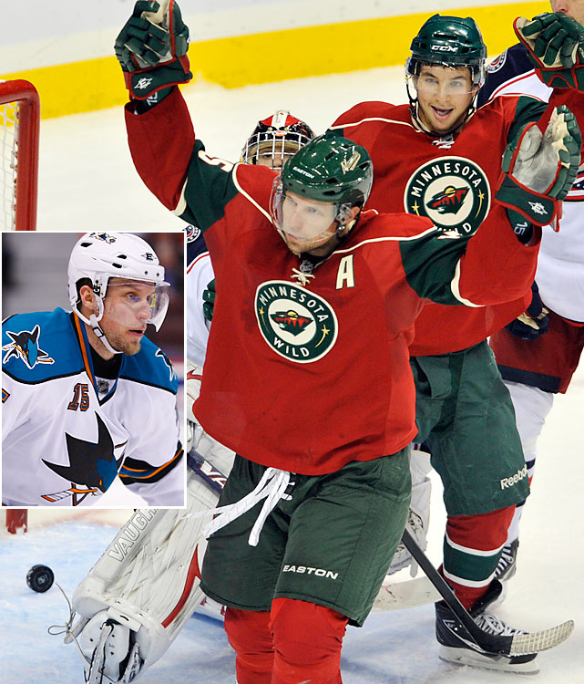 Looking to shed their longtime image as a deathly dull trapping team that scores almost by accident, the Wild traded right winger Martin Havlat to San Jose for Heatley, 30, a top regular-season sniper who has a reputation for vanishing in the playoffs. Heatley's acquisition came less than two weeks after the Wild acquired his former Sharks teammate Devin Setoguchi and prospect Charlie Coyle from San Jose in a trade for defenseman Brent Burns. Of concern: Heatley's 2010-11 season was a decidedly down campaign for him: only 26 goals and 64 points in 80 games.