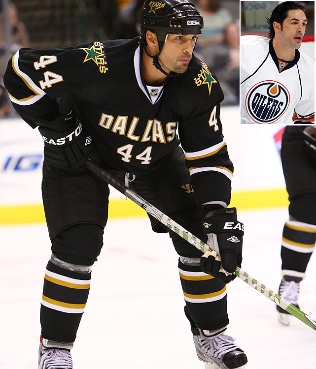 "Once one of the league's premier offensive defensemen, Souray, 35, spent a lost 2010-11 season in Hershey of the AHL before being placed on unconditional waivers by the Oilers. The Stars snapped him up with a one-year deal worth $1.65 million, their hope being that he can generate some scoring to help replace the departed Brad Richards and add some experience and physicality to their blueline mix. ""I feel great,"" he told ESPN. ""I've had a tough couple of years as far as injuries, but it was nice to have a long summer this year and put the pieces back together. I feel better than I have in four or five years. I'm looking forward to starting the season healthy and ahead of the eight-ball."""