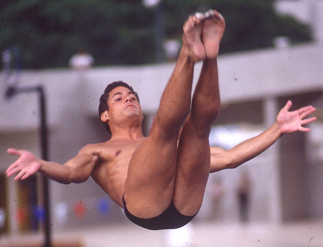 Greg Louganis dove in three Olympic Games ('76, '84 and '88), where he won four gold medals and one silver. He is the first and only male diver to win consecutive Olympic gold medals in the platform and springboard events.