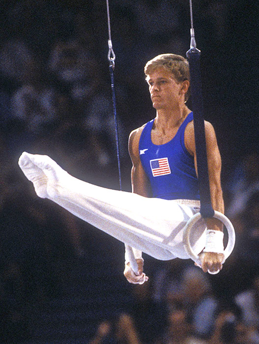 Peter Vidmar, a member of the historic 1984 Olympic gold-medal-winning U.S. gymnastics team, won individual medals on the pommel horse (gold) and in the all-around (silver).