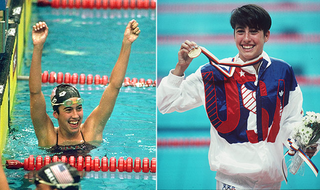 Janet Evans, known as the queen of distance swimming, won gold medals in all three of the distance events at the 1988 Olympics. Evans set world records in all of the distance events, which were some of the longest-standing swimming records in history. Recently, Evans announced her comeback to swimming, attempting to qualify for the 2012 Olympic Trials.