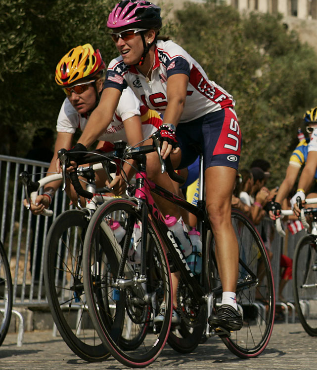 Armstrong's steady rise in cycling peaked at the Beijing Olympics, where she won the time trial. She backed that up by winning the 2009 time trial world championship. Then she stepped away from the sport to start a family. Her son, Lucas, was born Sept. 15, 2010. Armstrong announced her return later that year and was slated to race this year in September's world championships. In a surprising move, USA Cycling   bumped her off the team   days before the time trial and after she had already flown to Denmark to compete.