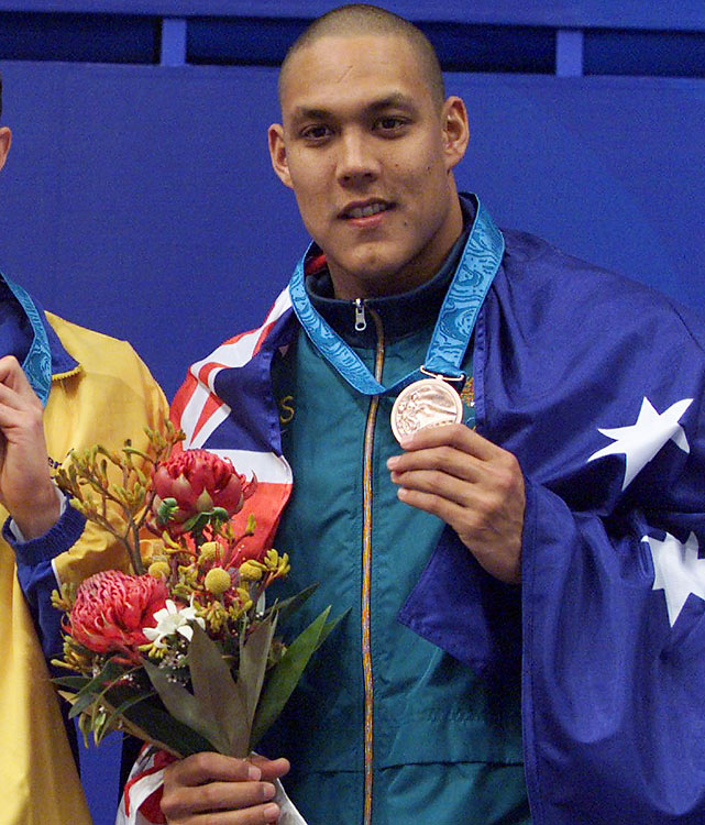 Huegill set the Olympic record in the 100-meter butterfly at the 2000 Olympics in Sydney. Unfortunately, he did it in the semifinals. Huegill was slower in the final, settling for bronze. Medal-less in 2004, he retired and fell out of shape. Four years later, Huegill announced his comeback after shedding about 90 pounds. Huegill won bronze at July's world championships in the 50-meter butterfly, an event not on the Olympic program. The only 50-meter race at the Olympics is the 50-meter freestyle. Huegill, 32, is ranked ninth in the world in the 100-meter butterfly this year.