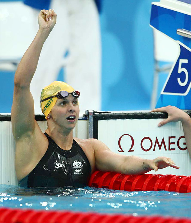 Trickett's retirement was short-lived. The six-time Olympic medalist left the sport in December 2009, thinking she had accomplished all of her goals. She was back in the pool 10 months later. Trickett sat out of competition until this summer due to drug-testing rules and has yet to post an elite time in any of her events -- 50 free, 100 free, 100 fly. If she makes her third Olympic team, Trickett can make Australian history. With two medals, she'll match Dawn Fraser and Petria Thomas as the most decorated Aussie female Olympians.