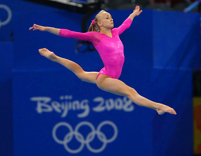 Liukin announced her comeback in October, but she was never really away from the sport. After winning the all-around title in Beijing, she stuck close to her family's three gyms in Texas and became an athlete representative for the International Gymnastics Federation as well as staying on the athlete drug-testing list. Liukin doesn't plan on going for another all-around title. Rather, she intends to focus on the uneven bars and balance beam, events she won the silver medal on in 2008.