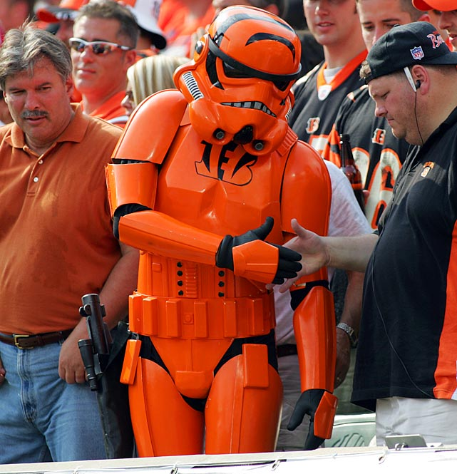 A Bengals fan dresses as a stormtrooper during a game against the Texans on Oct. 2, 2005 in Cincinnati.