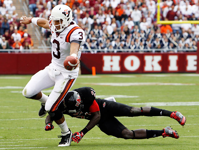 Virginia Tech is 3-0, but Hokies fans have to be concerned after two mediocre performances in a row against vastly inferior competition. Quarterback Logan Thomas (pictured) threw for 291 yards and two scores, but he was also picked off twice, and tailback David Wilson failed to rush for 100 yards (he had 86) despite getting 20 carries.