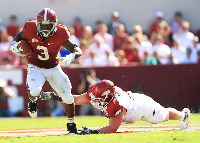 Some detractors had begun to doubt Trent Richardson, who had been solid but not outstanding in Alabama's first three games. Those voices of dissent were silenced Saturday when Richardson (pictured) rushed for 123 yards on 17 carries and caught three passes for 85 yards and a score as the Tide steamrolled their SEC West foes.