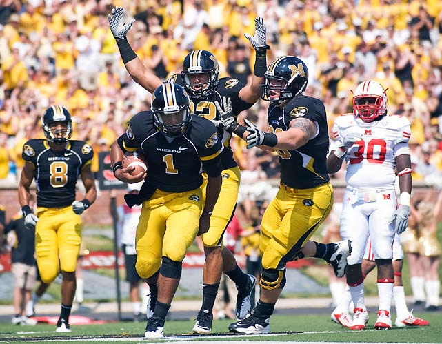 Missouri squeezed out the win, but this was not a flawless debut for new quarterback James Franklin, who managed just 129 yards, one touchdown and one interception through the air. Franklin did rush for 72 additional yards and a score, but no other Tiger had more than 43 yards on the ground. The Mizzou defense impressed, holding Miami to 270 net yards and notching two sacks, one interception and one fumble recovery.