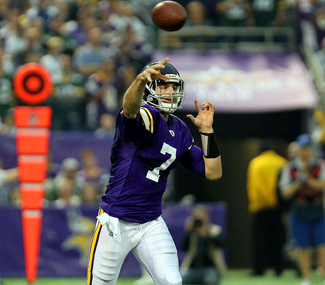 QBs signed through 2012:  Christian Ponder  They're record puts them in the hunt, but would they really give up on rookie first rounder Christian Ponder?