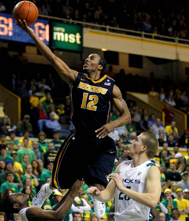 New coach Frank Haith is fortunate to inherit a weapon like Denmon, who was making treys at an over 50 percent rate halfway through his junior season, before a slump brought him down to a still-stellar 44.8 percent. He's one of the country's best at finding space in transition and knocking down dagger threes.