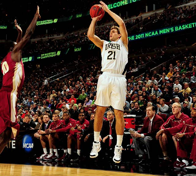 Abromaitis has thrived in Notre Dame's unpredictable motion offense, hitting 42.9 percent of his threes for each of the past two seasons. With Ben Hansbrough gone, will Abromaitis be able to continue that pace as one of the Irish's go-to options?