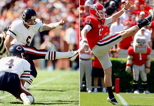 Kevin Butler was a placekicker for the University of Georgia, then in the NFL for the Chicago Bears and the Arizona Cardinals. His success at Georgia made him the only placekicker inducted into the College Football Hall of Fame. Kevin's son Drew is the current starting punter at Georgia, where he leads the nation in yards per punt.