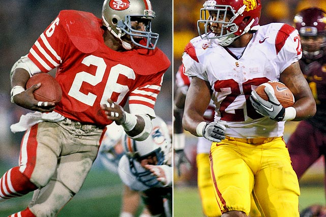 Wendell Tyler was the first running back in the NFL to lead two different teams in rushing in two Super Bowls (Rams - XIV, 49ers - XIX). Wendell's son Marc is carrying on the family tradition of playing running back, albeit at USC instead of Wendell's alma mater, UCLA.