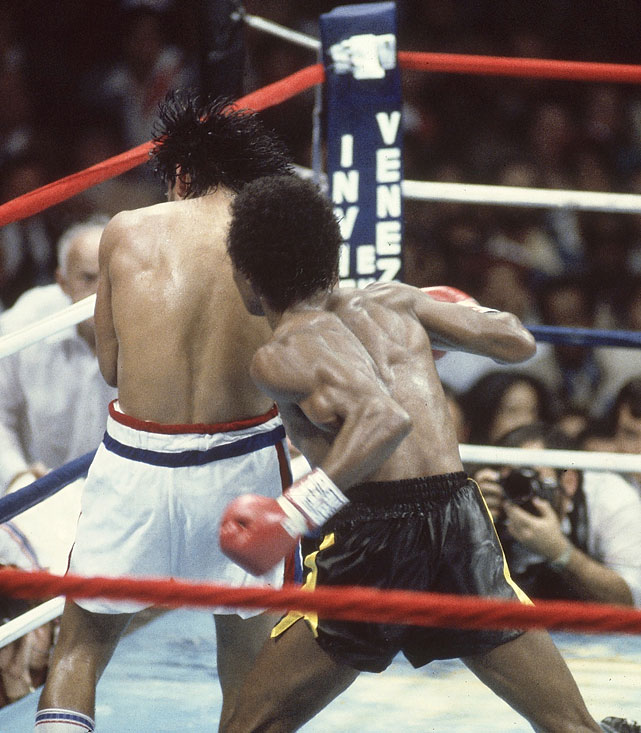 "Five months after he outpointed Leonard for the welterweight title in Montreal, Duran was outboxed in spectacular fashion through seven-and-a-half rounds of the return bout. That's when Duran abruptly turned his back and refused to continue, handing Leonard a TKO victory in what came to be known as the  no mas  fight. Few gave much credence to Duran's claims of stomach cramps, instead focusing on the incomprehensible surrender of one of boxing's all-time hard men. ""It was bizarre to witness so swift and devastating a collapse of a man's name,""  Sports Illustrated 's William Nack wrote. ""And what a name it was."""