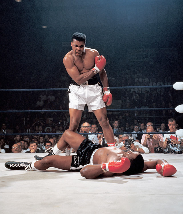 "Many cried fix when Ali floored Liston with a ""phantom punch"" early in the heavyweight title rematch in Lewiston, Maine. Few could believe Ali's short right hand could have knocked out a flyweight, let alone a champion as sturdy and feared as Liston."