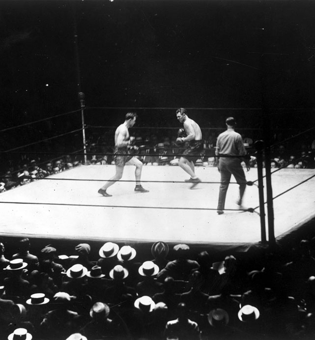 When Sharkey turned to the referee to complain of a low blow, Dempsey flattened him with a beautiful left hand. A major controversy ensued, but it enabled Dempsey to get the rematch with Gene Tunney that became The Long Count Fight.