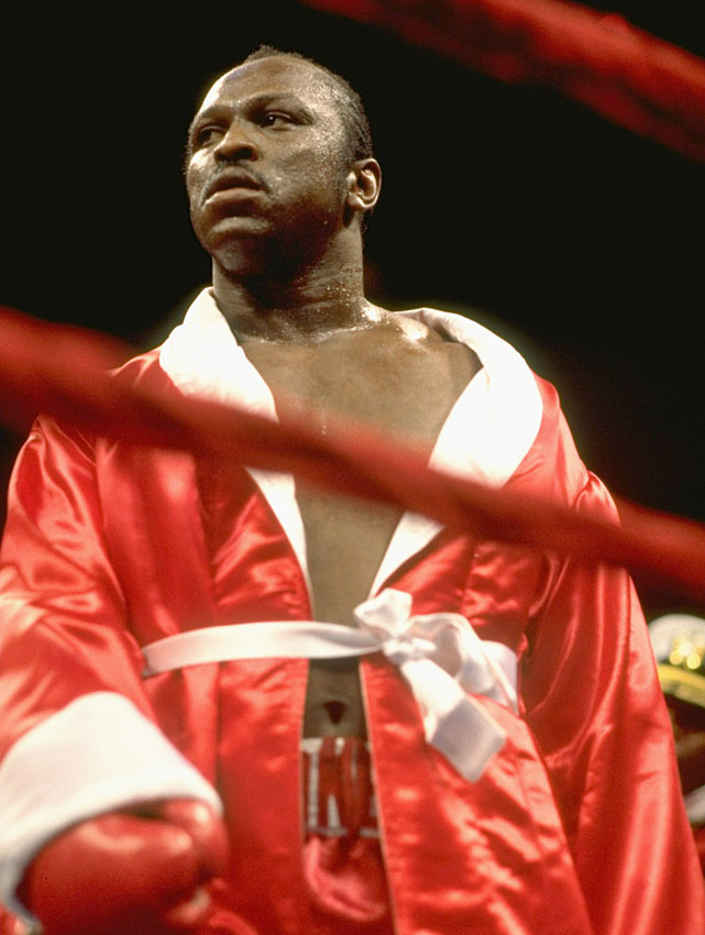 "The WBA heavyweight champion Weaver suffered a first-round knockdown against lightly regarded Michael Dokes (pictured). He made it up fairly easily, but referee Joey Curtis inexplicably stopped the fight after just 63 seconds. ""They shouldn't have stopped it,"" ringside physician Dr. Donald Romeo said. ""The referee was wrong. Weaver was fine."""