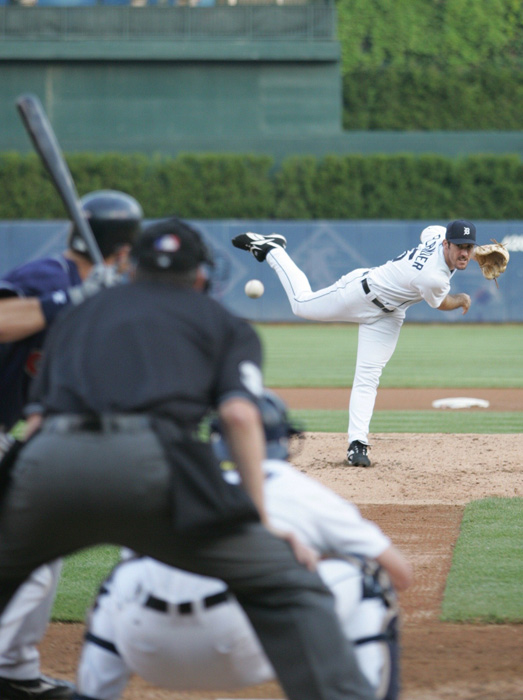 Verlander pitches against Cleveland during his 2006 rookie-of-the-year season. The Tigers' ace has been a key to their 2011 playoff run.