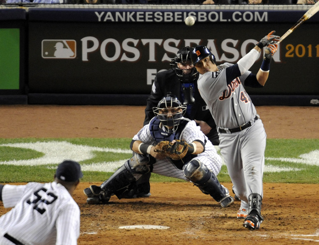 Martinez's RBI single off C.C. Sabathia helped the Tigers to a 3-2 victory in the winner-take-all Game 5 of the ALDS.