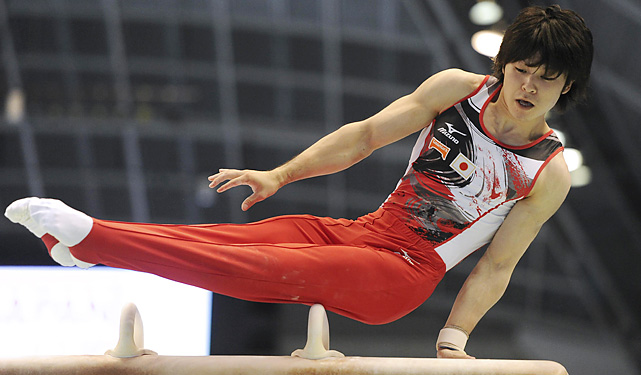 Uchimura is on his own planet. He's the two-time defending world all-around champion, winning the 2010 title by more than two full points (the same margin between second place and 12th place). If the Japanese leader performs to his capabilities, he will become the first man to win three world all-around titles.
