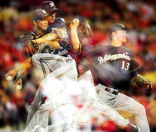 Milwaukee's Zach Greinke delivers a pitch in the Brewers' NLCS series against the St. Louis Cardinals. The Cardinals won the series in six games.