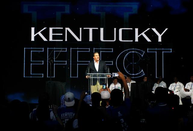 Kentucky coach John Calipari talks about the ''Kentucky Effect'' during Big Blue Madness at Rupp Arena.