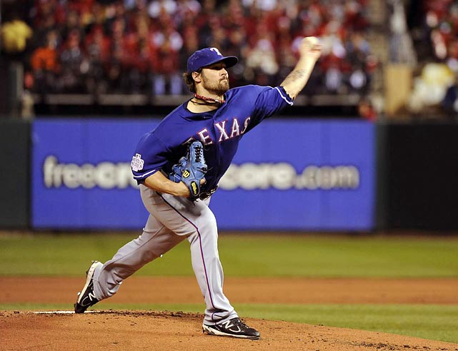 Rangers' starter C.J. Wilson allowed three runs in five and two-thirds innings in a losing effort.