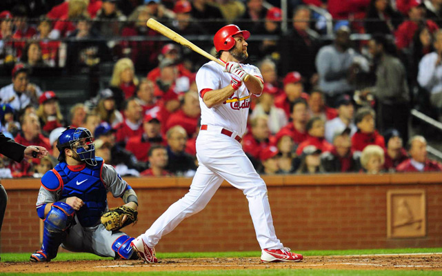 Lance Berkman's two-run blast in the bottom of the first inning gave the Cardinals the lead.