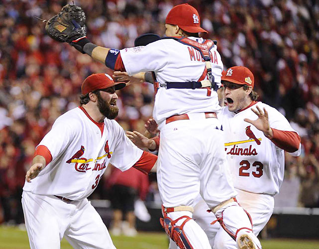 The Cardinals' win marked the ninth straight time a home team emerged victorious in Game 7 of the World Series.