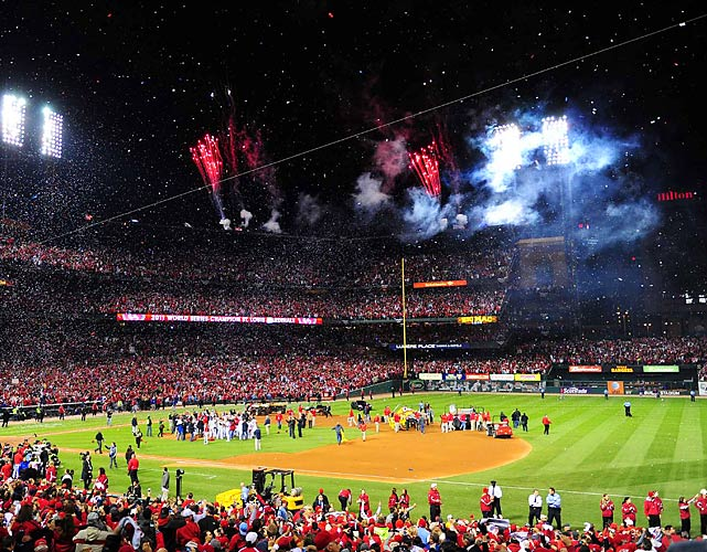 Fireworks adorned the St. Louis sky as 47,399 fans at Busch Stadium celebrated a World Series title for the Cardinals, who are now 8-3 in Game 7s -- more wins than any other team.
