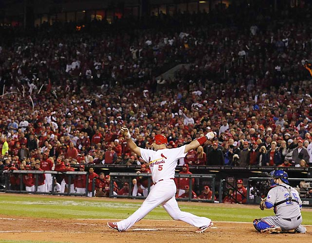 Albert Pujols struck out in his final at-bat in the seventh inning in what could have been the All-Star's last game as a Cardinal, as Pujols plans to test free agency.
