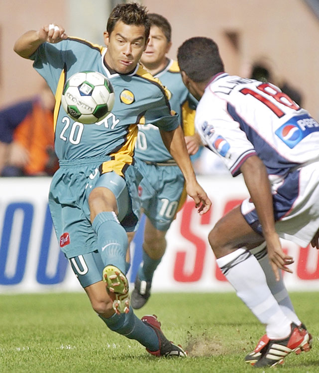 Ruiz took the Golden Boot with 24 goals in 2002, his first MLS season. The diminutive Guatemalan also scored eight goals in six playoff games, an MLS record. In the MLS Cup, Ruiz scored a golden goal in 113th minute for a 1-0 win over the New England Revolution.   Other finalists: Mark Chung, Taylor Twellman