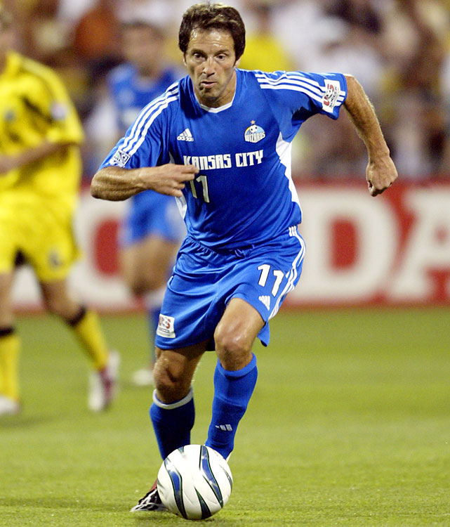 Preki is the only player to win two MVP awards, the other coming in MLS' second season in 1997. At 40, he was also the oldest MVP. Preki scored 12 goals with 17 assists, just as in 1997. K.C. lost in the Western Conference finals to San Jose, which went on to win the MLS Cup.   Other finalists: Ante Razov, John Spencer