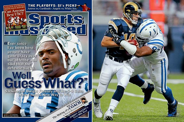 """The Dwight Freeney and Robert Mathis combination will go down as one of the greatest in NFL history for good reason. The bookend pass-rushers already have epitomized the, """"Meet you at the quarterback"""" mentality of today's defensive game. They combined for 199 sacks, with Freeney's 107.5 leading the way, up until his departure to San Diego in 2013."""